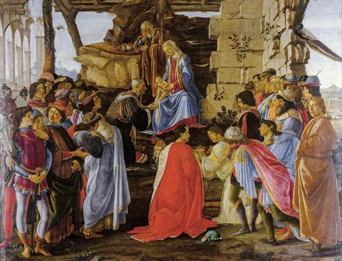 """Sandro Botticelli """"Pokłon Trzech Króli"""""""